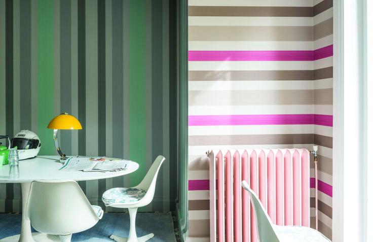 Farrow ball chromatic stripe telas papeles pintados y - Papeles pintados en madrid ...